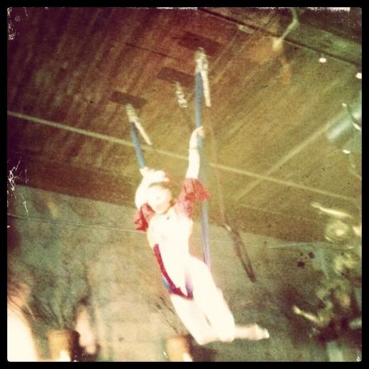 Tamara the Trapeze Lady at the Pink Door, Seattle, Washington