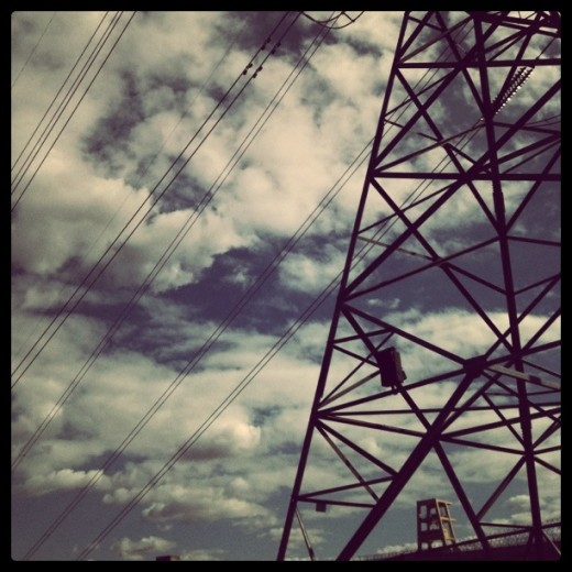 Big power towers