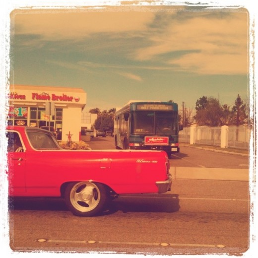 Red Truck and Bus