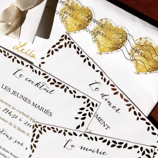 photo of invitation to a wedding in France