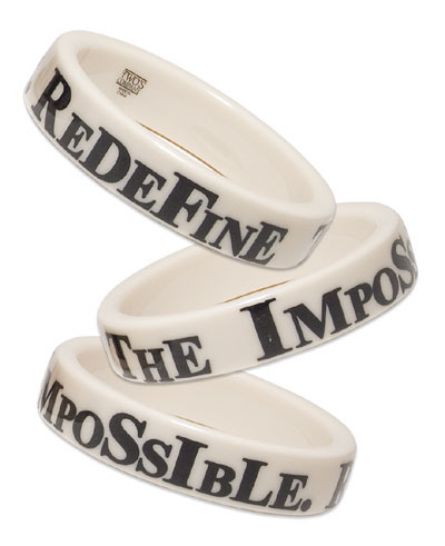 bracelet saying Redefine the Impossible