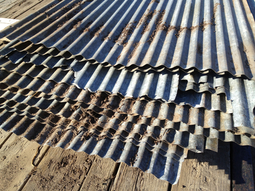 a lovely stack of 7/8 galvanized corrugated