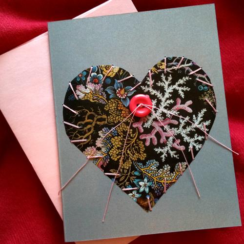 sewn valentine